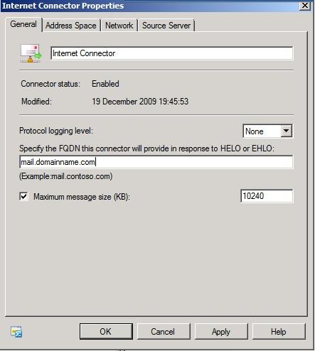 Exchange DNS Configuration (1/2)
