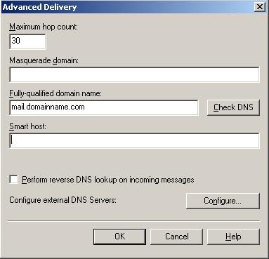 Exchange DNS Configuration (2/2)