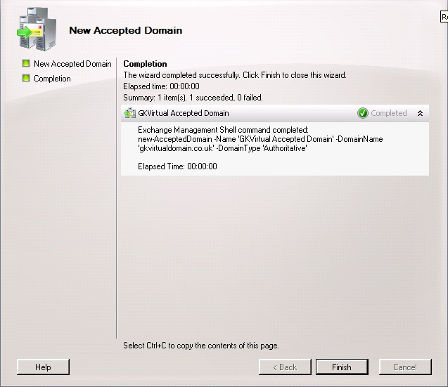 Configure Exchange 2007 or 2010 to relay email for an additional domain (2/6)