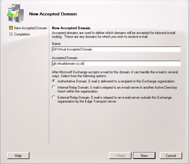 Configure Exchange 2007 or 2010 to relay email for an additional domain (1/6)