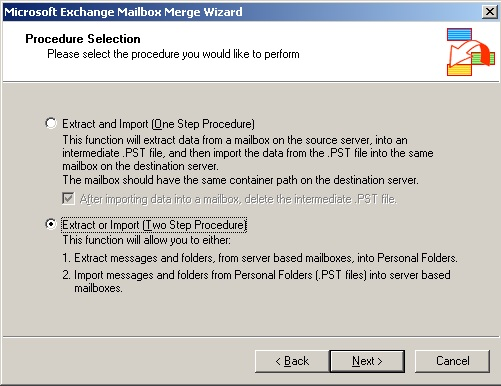 Export mailboxes using Exmerge and Exchange 2003 (1/6)