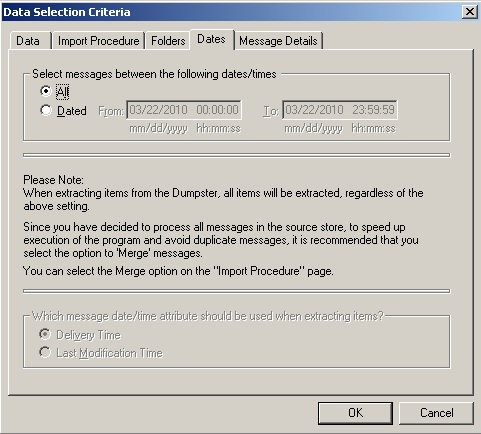 Export mailboxes using Exmerge and Exchange 2003 (4/6)