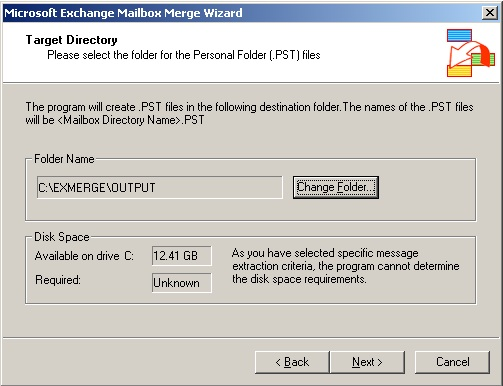 Export mailboxes using Exmerge and Exchange 2003 (6/6)