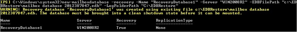 Mailbox Recovery Exchange 2010 (5/6)
