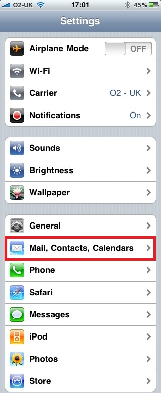 Configure iPhone for use with Exchange Server (1/6)