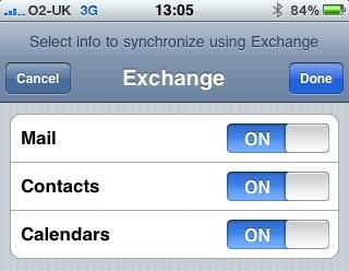 Configure iPhone for use with Exchange Server (6/6)